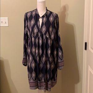 Blue Mint Bohemian Style Dress Size Large